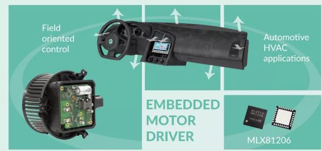 Melexis发布汽车应用级第II代嵌入式电机驱动MLX81206