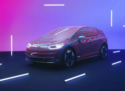 大众发布首款长距离电动汽车ID.3的概念车图片