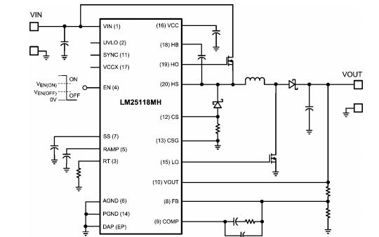 LM25118系列宽电压范围降压升压控制器的数据手册免费下载