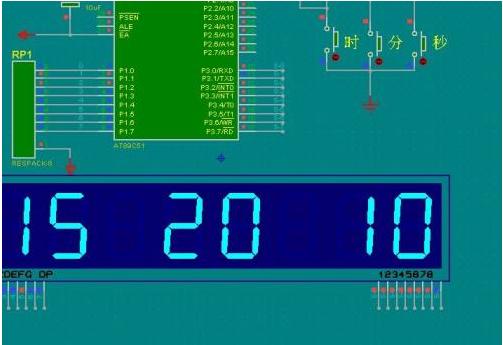 51单片机LCD液晶屏按键电子时钟的设计