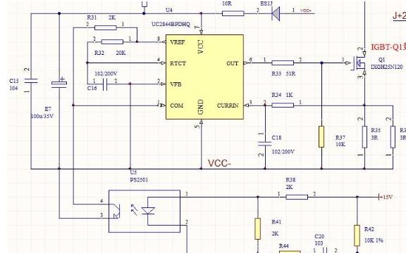 如何正确搭建uc3845电路次级线圈图片