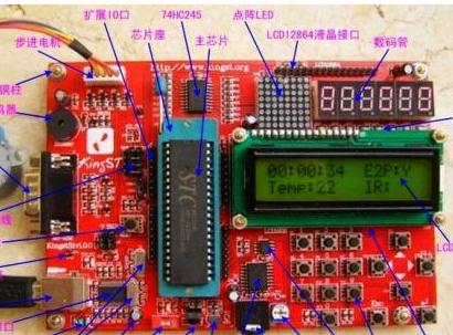 51單片機時鐘計時器學習板的基本原理解析