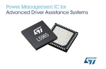 意法半導體可編程電源管理芯片節省先進駕駛輔助系統(ADAS)空間,提高可靠性