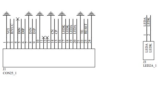 3.0寸TFT液晶高清显示屏ST7701S原理图免费下载