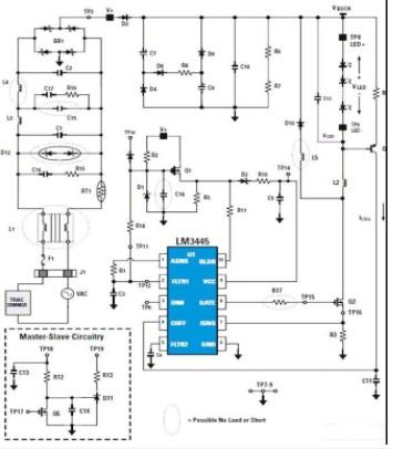 利用LM3445 LED驱动器和设计工具实现可调光固态照明系统