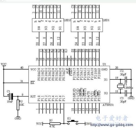51单片机控制动态数码管显示12345和HELLO字样的设计