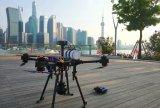 上海理工大学学生李研发的5GVR全景航拍直播无人...