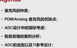 智能音箱的ADC的应用设计解决方案