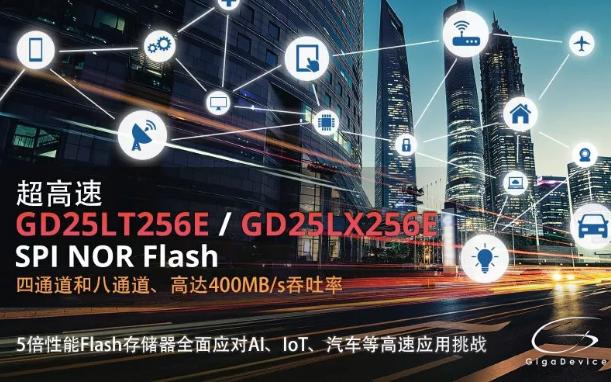 高速4通道及兼容xSPI規格的8通道SPI NOR Flash再添新員