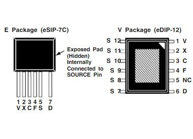 TOP264-271電源芯片的特點及引腳功能