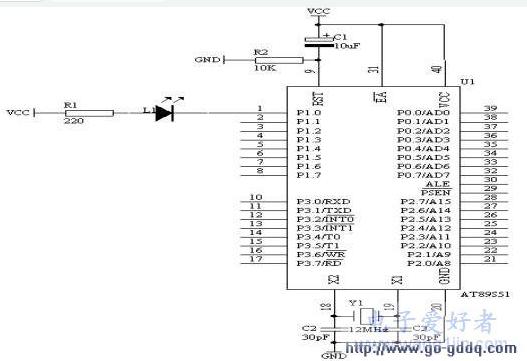 51单片机对闪烁灯的≡控制设计