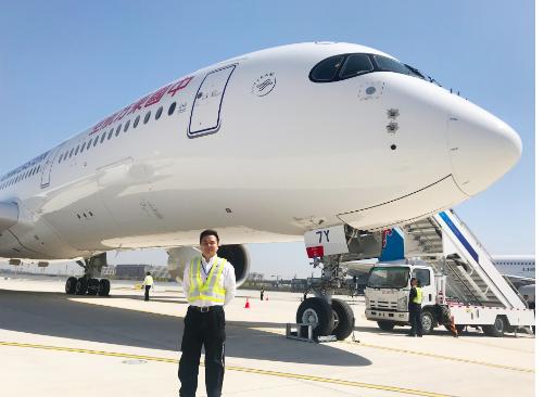 東航首批A350飛機在北京大興機場圓滿成功了試飛工作