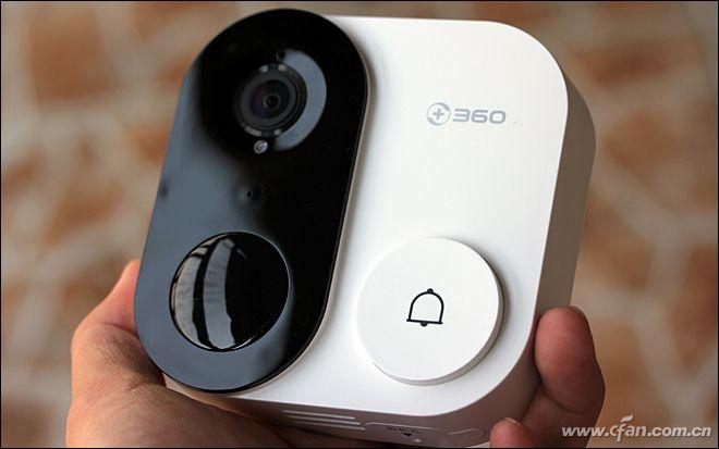 360可视门铃1C体验 取景范围和夜视能力非常出色具备较强的安全系数