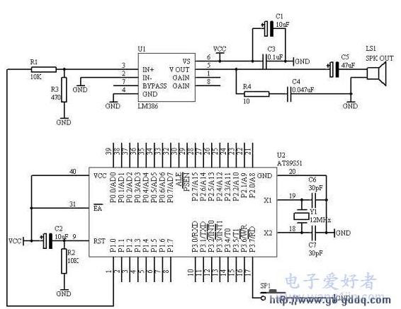 AT89S51单片机电子门铃的设计