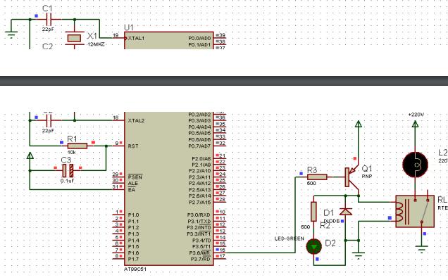 使用单片机进行驱动继电器实验的详细资料说明