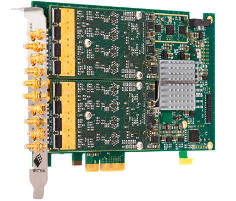 Spectrum儀器65系列PCIe任意波形發生器新增兩個新的8通道卡