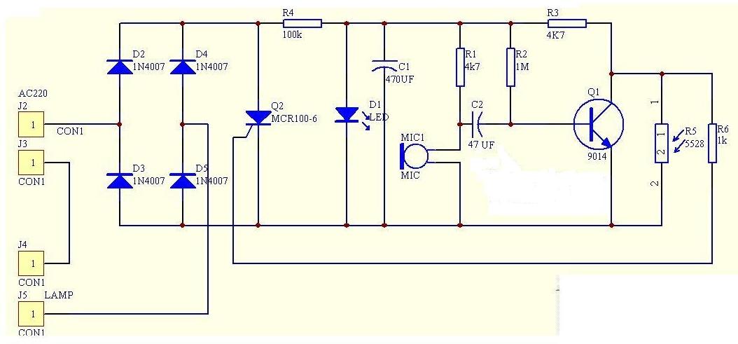 声光控楼道灯电路原理图与工作原理分析