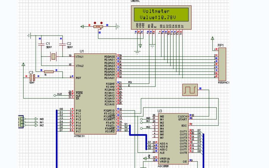 使用C51单片机和Proteus仿真设计自动换挡电压表的应用实例资料说明