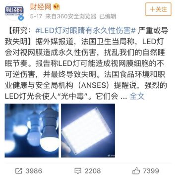 About the damage of LED lights to the eyes