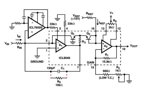 ICL7650S超级斩波稳定放大器的中文数据手册免费下载