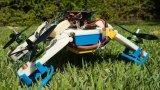 陆空两栖无人机,当撞到地面时会将其螺旋桨臂变为轮子