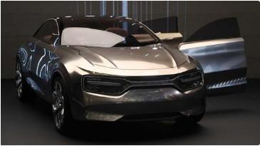 起亚纯电动SUV即将量产 外形设计较为科幻