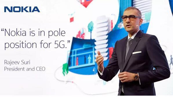 诺基亚CEO表示目前已经获得了37个5G商用合同