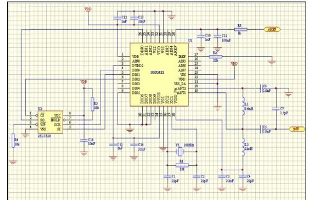 nRF2401 2.4G無線通信方案模塊的詳細資料說明