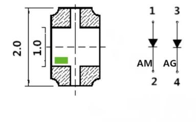 SMD0805橙黄绿双色贴片LED灯珠的数据手册免费下载