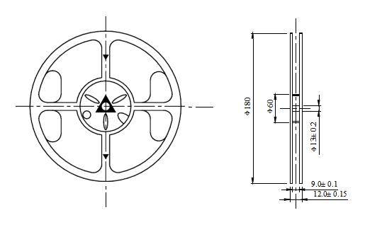 SMD0805侧面蓝光普亮贴片LED灯珠的数据手册免费下载