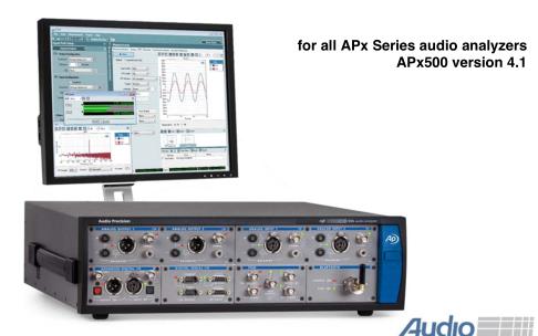 适用于所有APX系列的音频分析仪APX500用户手册免费下载