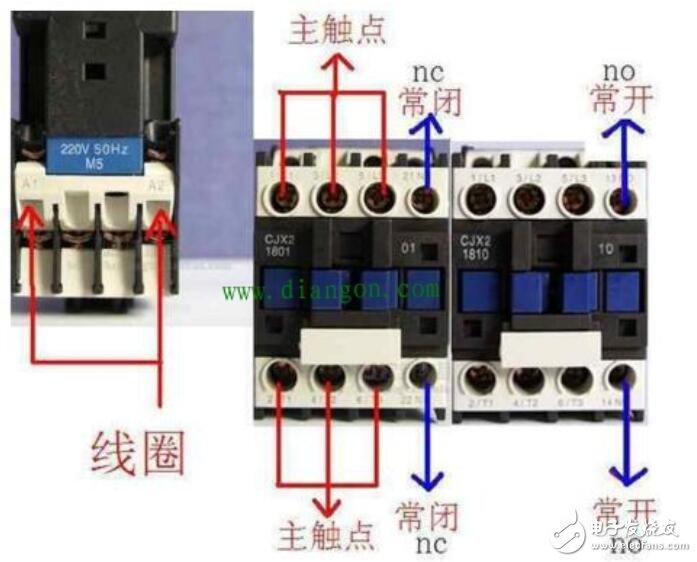 交流接觸器有幾個觸點