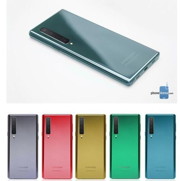 三星Galaxy Note 10曝光將采用居中開孔設計搭載了后置四個攝像頭