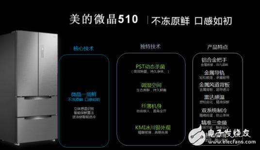美的微晶510冰川银新品苏宁首发 冰箱新科技助力保鲜生活
