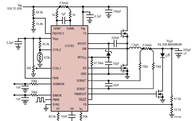 LT3763固定频率、同步、降压的DCDC控制器数据手册免费下载