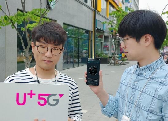 LG U+聯合華為實現了5G手機上網速率達到了1.1Gbps