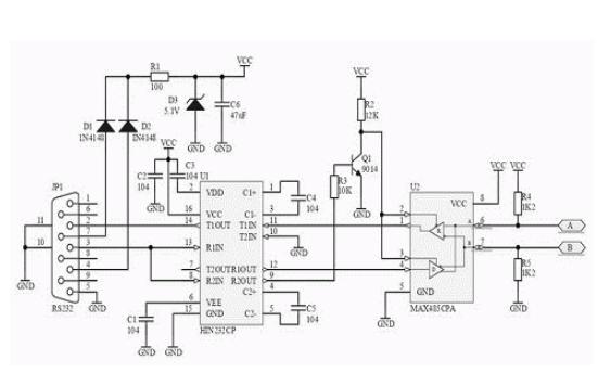 无源RS485和RS232转换器如何与终端可靠连接