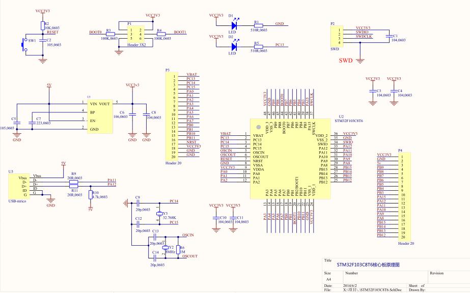 STM32F103X8B系列和STM32F103C8T6核心板的详细资料合集免费下载