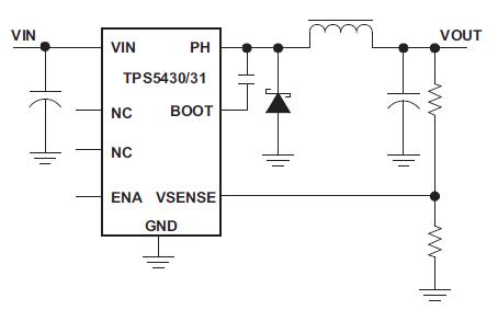 TPS543X高输出电流的脉宽调制转换器的数据手册免费下载