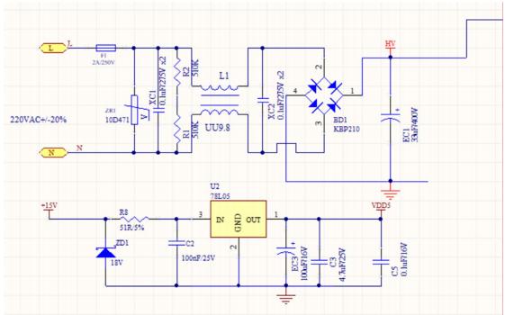 无感高压吊扇驱动方案的详细电路图资料免费下载