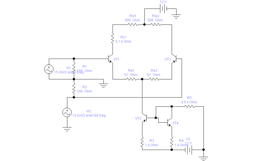 使用EWB软件进行差分放大电路的仿真资料说明