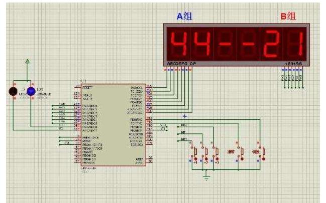使用單片機設計籃球計時計分系統的protues仿真和源代碼資料合集