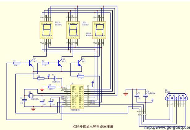 AT89C2051单片机对点钞机的外接显示屏驱动设计