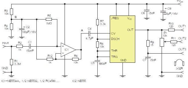 基于555定时器和D类放大器的耳机音频线路驱动器设计