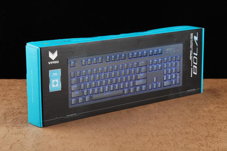 雷柏V708多模式背光游戏机械键盘评测 无论是办公还是游戏都有着极为舒适的视觉体验