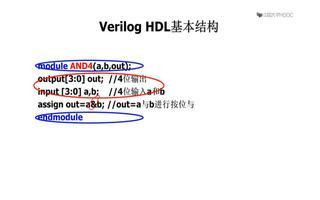 数字设计FPGA应用:Verilog HDL语言基本结构