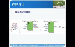 正点原子开拓者FPGA:按键控制蜂鸣器实验