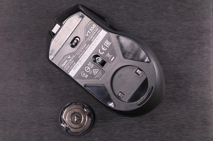 雷柏VT350双模游戏鼠标拆解 定位中端高端用料