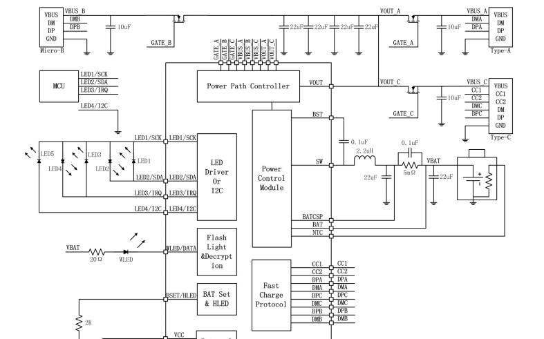 SW6106支持PD的多协议双向快充移动电源的数据手册免费下载