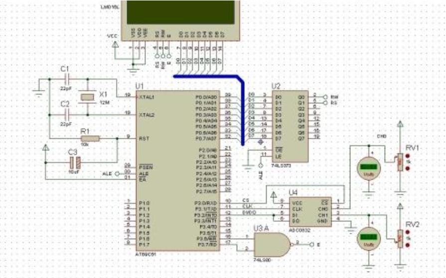 C8051F020实现ADC采样芯片外的模拟电压通过LCD显示并通过串口发送到PC机